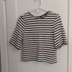 Anthropologie Black and White Striped Sweater
